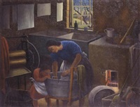 washing day, berrima by george bernard duncan