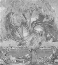 tree & lake by heinrich h. pfeiffer