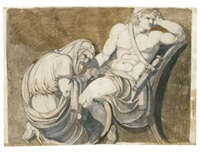 king priam begging achilles for the body of hector by henry fuseli