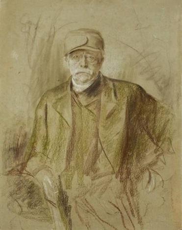 bismarck mit mütze by franz seraph von lenbach