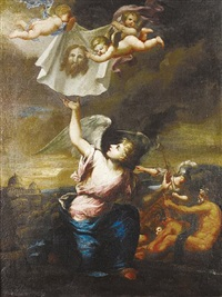 the sudarium of saint veronica by italian school-genoa (18)