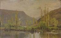paysage du doubs by emile isembart