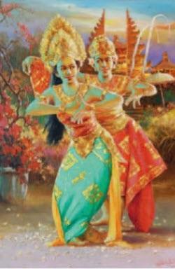 penari bali (balinese dancers) by pardoli fadli