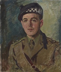 half length portrait of lord lovat by frederic whiting