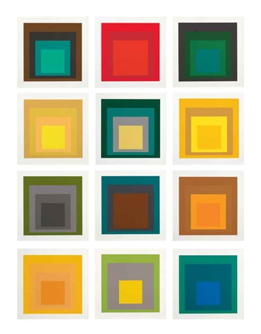 sp homage to the square set of 12 by josef albers