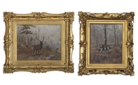 forest scenes (pair) by thomas corwin lindsay