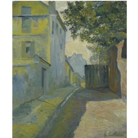 rue du mont cenis montmartre by gustave caillebotte