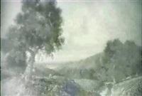 paisaje con figuras y rio al fondo by henry smyth