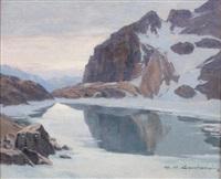 lac de l'eychauda by charles henry contencin