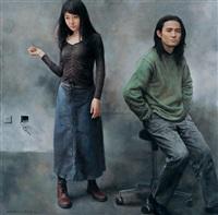 画家与模特的肖像 (artist and model) by yuan zhengyang