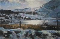 untitled (sun over llyn gadair, near beddgelert) by aled prichard-jones