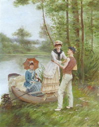 afternoon by the lake by paul d' antin