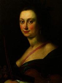bildnis einer dame als personifikation der musik by johann ulrich mayr