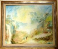 conversation sous les ruines. temple de la sybille by leopold m. baijot