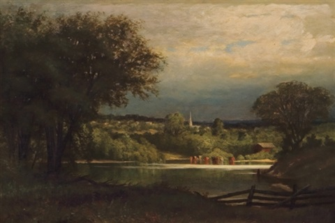 a view across the pond by laura woodward