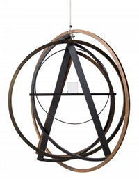 astrolabe, it's a small world (hang at eye level, look through glass) by man ray