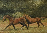 pair of hunters trotting by eddie kennedy