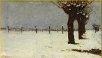 campagna sotto la neve by cesare viazzi