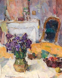 interior with iris by bessie ellen davidson
