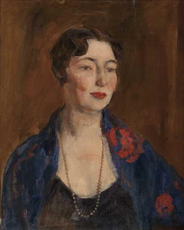 portrait of a woman by george benjamin luks