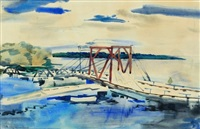 bridge near bath by william zorach