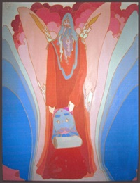 sage with wings of winged sage by peter max