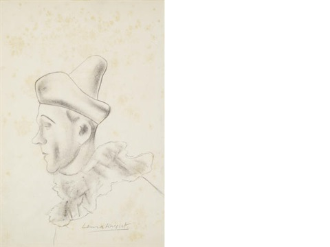 profile of a circus clown 2 others 3 works by dame laura knight