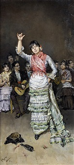 danseuse de flamenco by antonio maría de reyna manescau