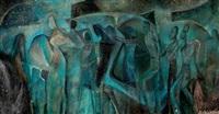 mural (study) by aaron douglas