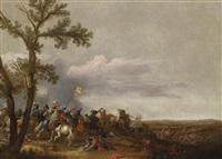 ein reitergefecht by jan asselijn