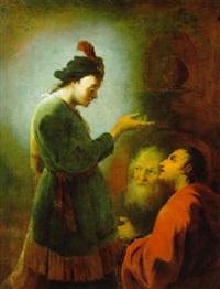 joseph deutet die traeume der gefangenen by johann zick