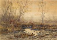 river landscape by charles partridge adams