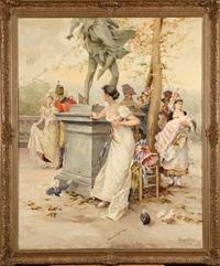 scène galante au parc by mariano alonso pérez