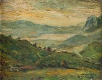 paesaggio di montagna by ermenegildo agazzi