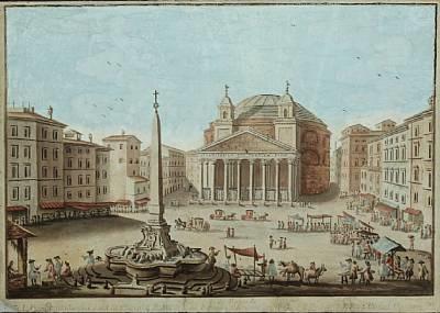piazza della rotonda by giuseppe vasi
