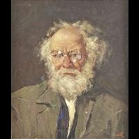 ritratto di vecchio con barba e occhiali by camillo claudio rasmo