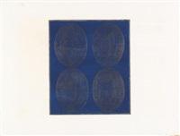 4 ovali su fondo blu by turi simeti