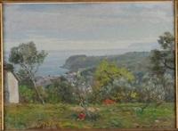 paesaggio ligure con bambino by giorgi matteo aicardi