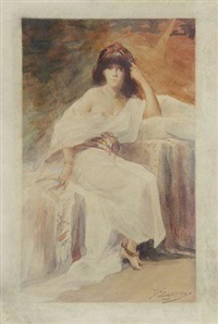 actrice dans sa loge by delphin enjolras