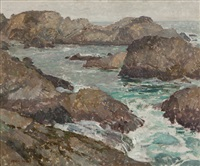 rocks and sea by frank harmon myers