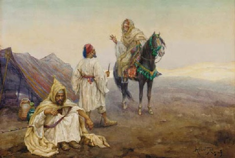 greeting the encampment by albert rosati