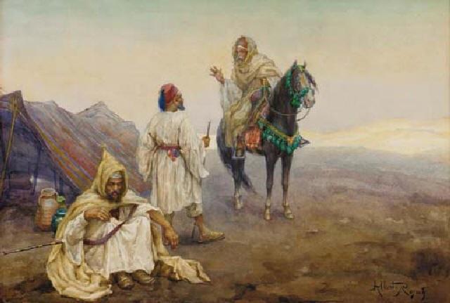 greeting the encampment by albert rosati