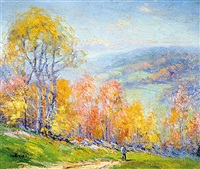 october hillsides by harry g. aitken