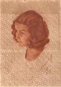 portrait of a young girl by alexander evgenievich iacovleff