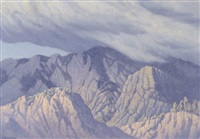 mountain storm, the sandias by carl woolsey