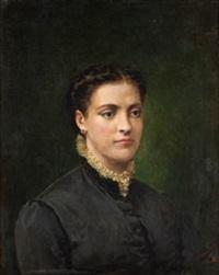 retrato de dama by salvador martínez cubells