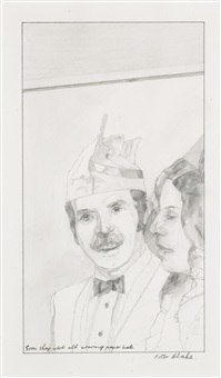 soon they were all wearing paper hats by peter blake