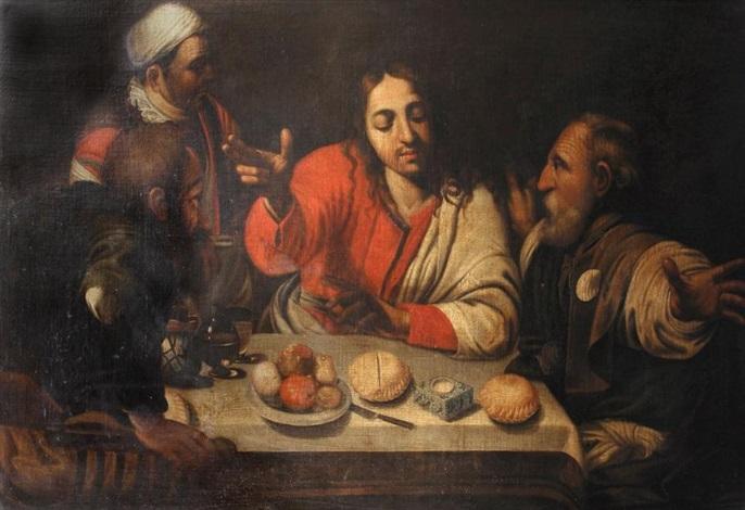 les pèlerins demmaüs by michelangelo merisi da caravaggio