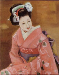 seated maiko by japanese school (20)