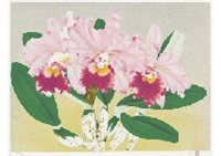 cattleya pink (3) (set of 2) by chinami nakajima